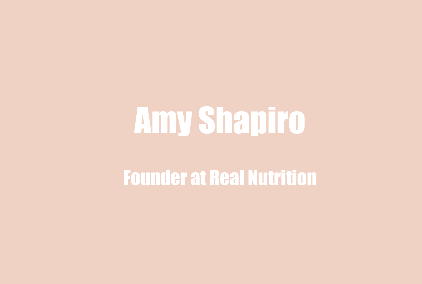 Amy Shapiro, Nutritionist and Founder of Real Nutrition, on Finding Foods that Help with Mental Health and Wellness, and the Importance of Prebiotics and Probiotics