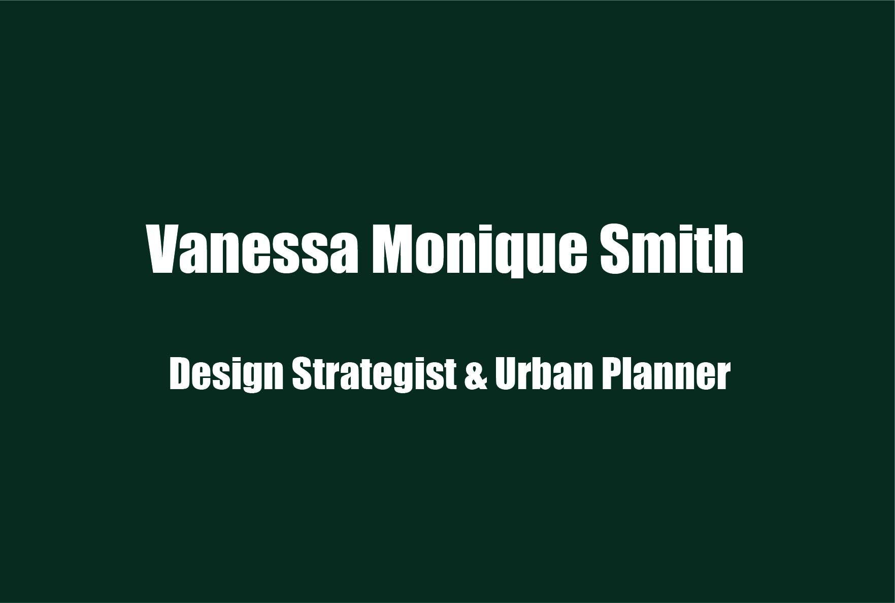 Vanessa Smith, Mental Health Advocate and Urban Planner, on Using the Arts & Cross-Disciplines to Challenge Stereotypes